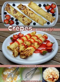 low carb crepes - thin pancakes- low carb Crêpes – dünne Pfannkuchen low carb crepes – thin pancakes Crepes are very thin pancakes and are popular as a snack all over France. Traditionally, crepes are made from flour, milk and eggs and … - Low Carb Crepes, Low Carb Pancakes, Low Carb Keto, Pancake Healthy, Best Pancake Recipe, Healthy Snacks, Low Carb Sweets, Low Carb Desserts, Crepes Minces