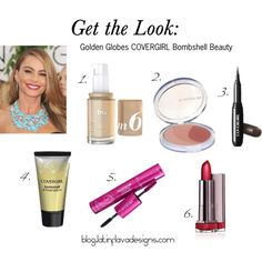 """""""Golden Globes 2014 COVERGIRL Bombshell Beauty - Sofia Vergara"""" by latinflavadesigns on Polyvore"""