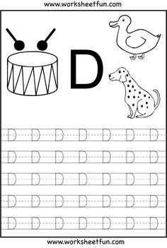 math worksheet : kindergarten letter d writing practice worksheet printable  : Letter D Worksheets Kindergarten