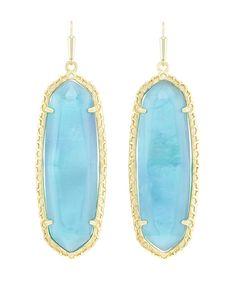 Lauren Earrings in London Blue Illusion - Kendra Scott Jewelry.