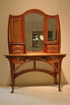 Art Nouveau dressing table by mhlosh, via Flickr