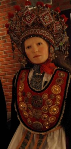 Norwegian folk costumes - Hardanger region - bride