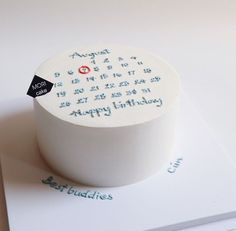 korean cake happy birthday icing aesthetic korean yummy soft minimalistic cute kawaii g e o r g i a n a : m u n c h amp; Pretty Birthday Cakes, Pretty Cakes, Beautiful Cakes, 22 Birthday, Birthday Ideas, Mini Cakes, Cupcake Cakes, Simple Cake Designs, Simple Cakes