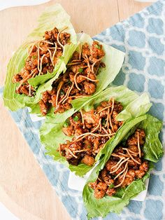 17 Casual Chicken Recipes for Lazy Weeknights | CHINESE CHICKEN LETTUCE WRAPS | These guys are easy, healthy, and packed with flavor. The combo of hoison, soy sauce, garlic, ginger, rice vinegar, and sriracha hits all the right notes. Get the recipe HERE.