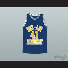 14d22965b8c9 The Fresh Prince of Bel-Air Will Smith Bel-Air Academy Basketball Jersey Bel