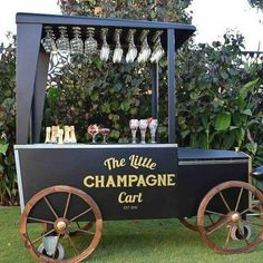 Champagne cart.