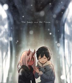 The Beast and the Prince Credits: ya_y_a_ya / Anime: Darling in the FranXX /renzu Manga Anime, Anime Art, Zero Two, Kawaii Chibi, Dark Anime, Best Waifu, Fanart, Diabolik, Darling In The Franxx