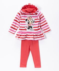 Look at this Minnie's Bow-Tique Pink Minnie Hoodie & Leggings - Toddler on #zulily today!