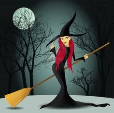 witch with trees and moon in a background If you could really fly we would save on insurance and gas. Think about that one. Theincensewoman