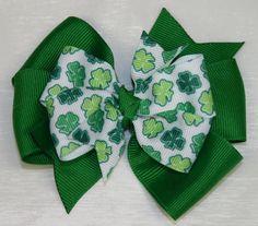 St. Patricks Hair Bow