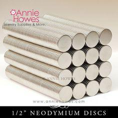 100 Neodymium Magnets 1/2 Inch Diameter. Super by AnnieHowes