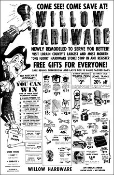 1950's Hardware Store Ad.