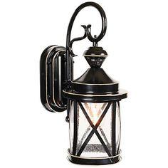 """Marietta Black 18 1/4""""H Motion Sensor Outdoor Wall Light"""