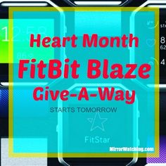 Enter the FitBit Blaze Give-A-Way!!!! Ok #Fitfam It is Heart Month and we are bringing attention to the need to have a healthy heart through diet and exercise. What better way than with the latest in fitness accessories.  You've talked about it and thought about it now might be your chance.  The Give-A-Way start tomorrow.  Watch this space!!! #fitbitblaze #fitbit #giveaway #hearthealth #heartmonth #fitnessaccessories #fitness #health #weightloss #healthiswealth #teamMirrorWatching