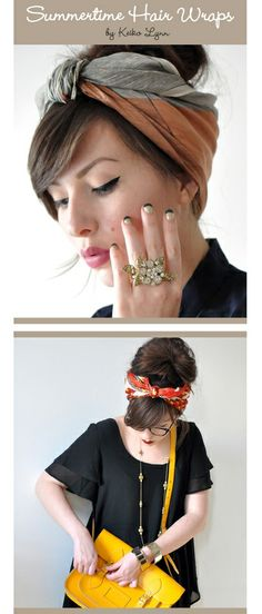 DIY headband wrap from scarf for-a