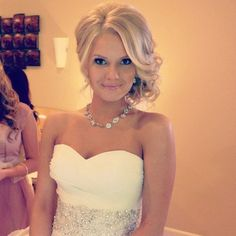 By carly cheney. Wedding hair @Bloom.com