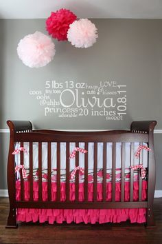 Nursery  Room Baby Subway Art- Vinyl Wall Decal. $25.00, via Etsy.  What a great baby shower or hospital gift!