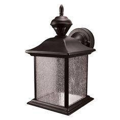 Heath Zenith City Carriage 150° Black Outdoor Motion Sensing Lantern