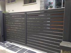 Garage Door Security, Fence Design, Small House Plans, Gates, Garage Doors, Outdoor Decor, Home Decor, New Houses, Model