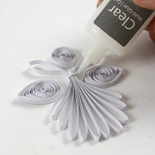 13773 A quilled Angel made from white Quilling Paper Strips