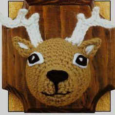 No I deer! Freebie crochet, genius: thanks so for unique share xox Crochet Taxidermy, Crochet Deer, Crochet Home, Crochet Animals, Free Crochet, Faux Taxidermy, Amigurumi Patterns, Crochet Patterns, 4 Ply Yarn