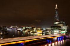 London's evening skyline...
