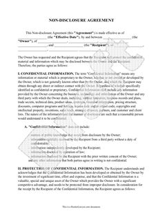 non disclosure agreement what you think is government