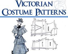 PATRONES vestido victoriano ilustrado libro diseño por HowToBooks