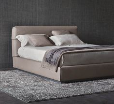 Fantastisch Double Bed Bed With High Headboard Gentleman Collection By Flou