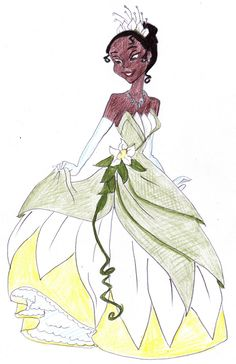 how to draw princess tiana step by step easy