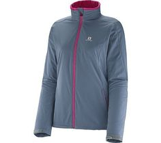 Salomon 201415 Womens Nova Softshell Jacket Bleu Gris  M *** Read more reviews of the product by visiting the link on the image.