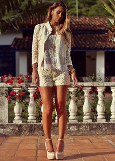 All lace   Look com renda
