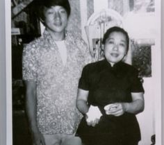 Young Jackie & his mom.