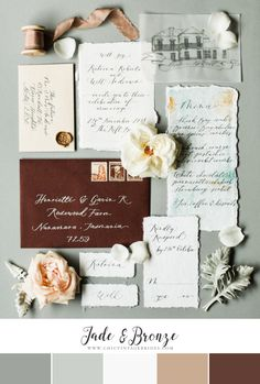 Jade & Chocolate Fall Wedding Colour Palette Funny Wedding Photos, Vintage Wedding Photos, Vintage Weddings, Lace Weddings, Wedding Dresses, Wedding Dj, Rustic Wedding, Dream Wedding, Wedding Shot