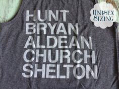 Country Music Men Tank Sam Hunt Luke Bryan by DixieCreative