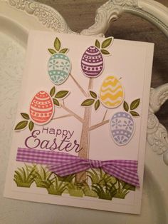 Seasons of Easter by bazzill_babe - Cards and Paper Crafts at Splitcoaststampers Diy Holiday Cards, Christmas Cards, Cricut Cards, Stampin Up Cards, Scrapbook Cards, Scrapbooking, Paper Cards, Creative Cards, Easter Crafts