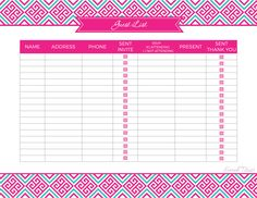 Home Inventory Organizing Printable  Editable Household