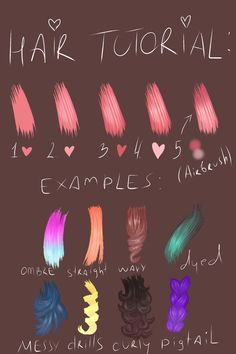 My first tutorial... I hope it will help somebody to draw hair better #drawinghair