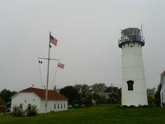 U.S. Coast Guard Lighthouse Station. Chatham Light at Chatham Ma. Cape Cod Photo by:J.S. Petralito (C) Oct 3 2012