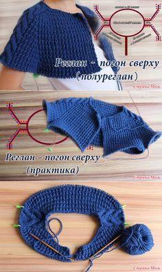 Knitwear Fashion: A beautiful coat on a circular knitting Russian Knitting Step by Step Knitting Videos, Sweater Knitting Patterns, Crochet Cardigan, Knitting Stitches, Knitting Designs, Knit Patterns, Free Knitting, Baby Knitting, Crochet Baby
