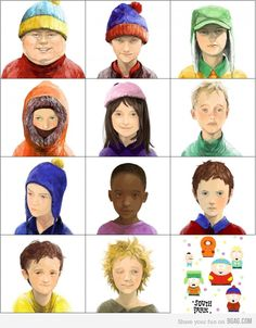South Park characters... less animated :)