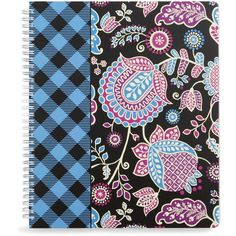 Vera Bradley Notebook with Pocket in Alpine Floral ($14) ❤ liked on Polyvore featuring home, home decor, stationery, accessories, alpine floral and sale