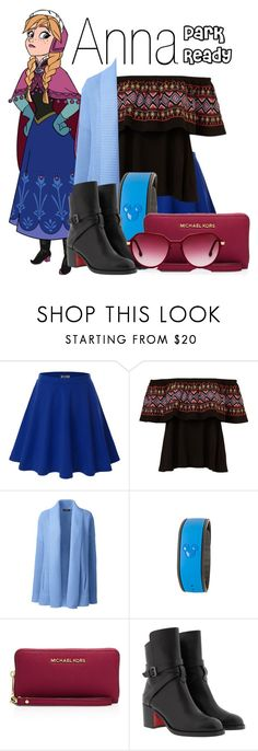 """Anna~ DisneyBound"" by basic-disney ❤ liked on Polyvore featuring Doublju, Disney, Lands' End, MICHAEL Michael Kors, Christian Louboutin and Steven Alan"