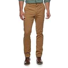 Men's SONOMA Goods for Life™ Slim-Fit Flexwear Stretch Chino Pants, Size: 36X32, Brown Oth