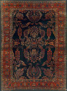 Persian Mahajaran Sarouk Oriental Rug #32922