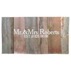 Primitive Rustic barnwood country barn wedding Pillowcase