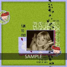 """Made with #CarolineB """"The Five Sens"""" kits. CarolineB-Design.com MyMemories"""