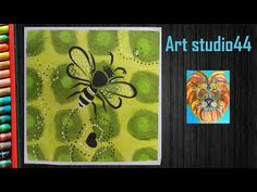 How to Draw Honey Bee with Oil Pastels step by step Oil Pastel Drawings, Oil Pastels, Washi, Moose Art, Bee, Honey, Make It Yourself, Youtube, Bees
