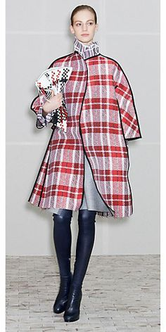 Celine Woven Checkered outfit from Winter 2013