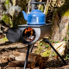 Story  A portable wood-burning stove with frontier ruggedness and looks  The Frontier Stove is a wood-burning stove originally designed for humanitarian aid purposes. The design was so efficient and useful that Avenay began selling them to consumers for use as a camping stove and for use in yurts, sheds and even semi-permanent tents. It's super portable and quick to setup, making it great option for cooking in the outdoors.  Features   Perfect for the beach, the mountains or weekend camping…